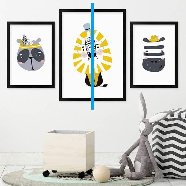 Symmetrische Hängung Poster-Set