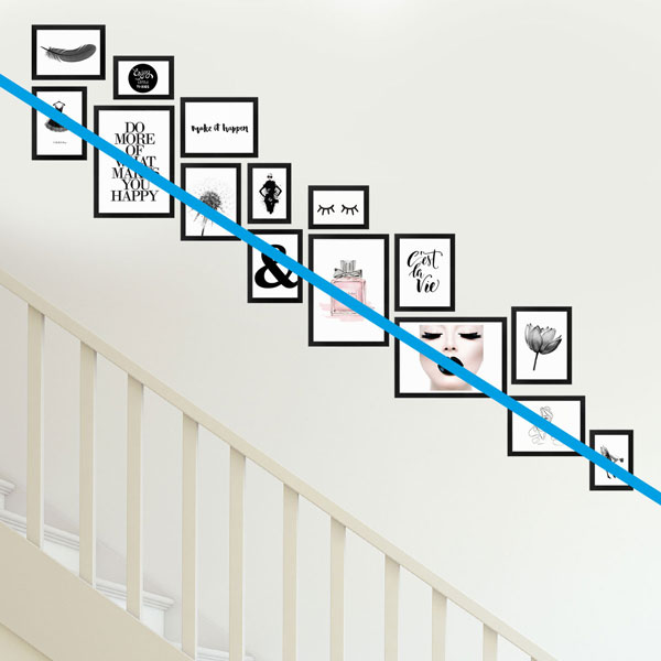 Treppenhaus gestalten mit Fotorahmen