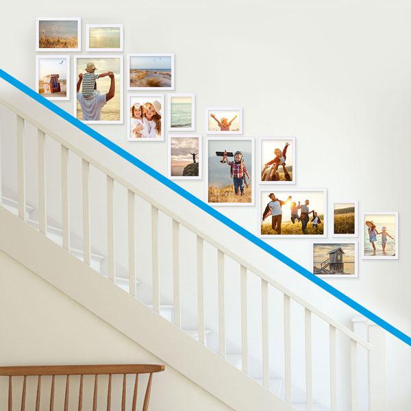 Treppenhaus gestalten mit Fotos