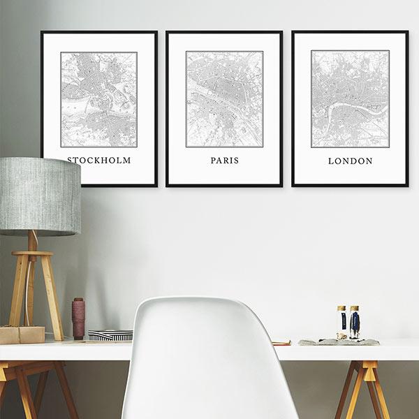 Arbeitszimmer einrichten mit Poster-Sets