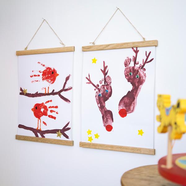 Wanddeko Kinderzimmer Posterleisten mit DIY-Poster