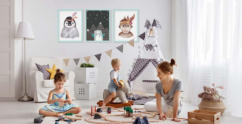 Wanddeko Kinderzimmer Poster-Set