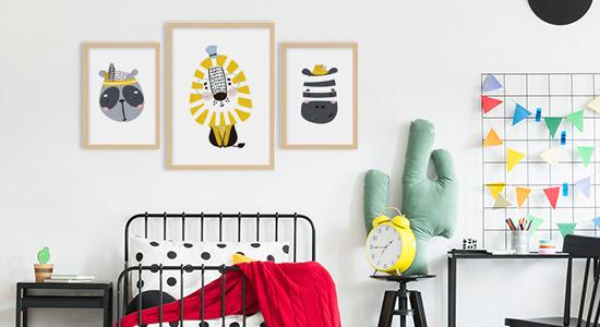 Wanddeko Kinderzimmer Kinderposter