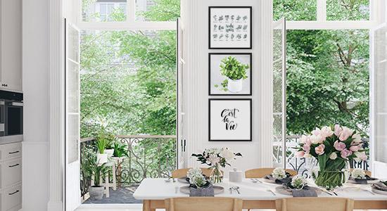 Küchenbilder Gewürze und Typografie