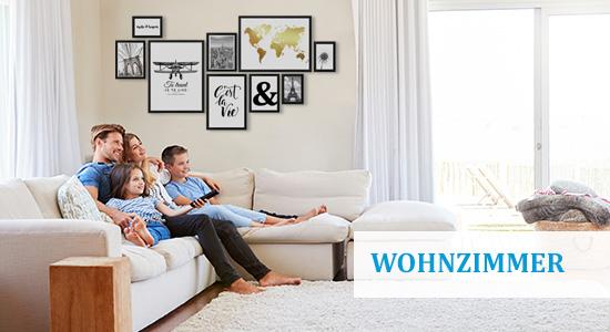 Wandgestaltung Wohnzimmer mit Bildern