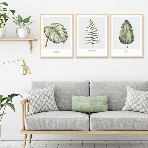 Wandgestaltung Wohnzimmer Poster-Set