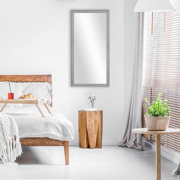 Wandgestaltung im Schlafzimmer Wandspiegel