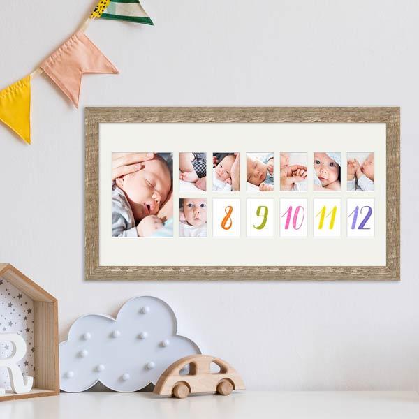 Babybilderrahmen für das erste Jahr