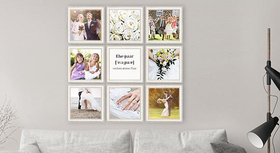 Fotorahmen Hochzeit 9er Set