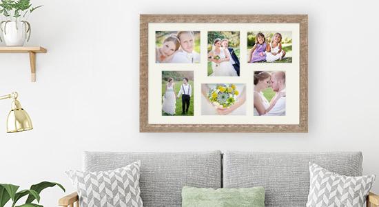 Fotorahmen Hochzeit mit sechs Fotos