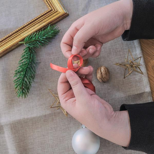 Weihnachtsdeko Christbaumkugel basteln