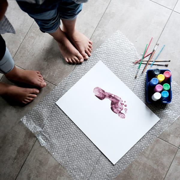 Basteln mit Kindern Fingerfarbe