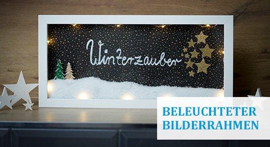 Beleuchteter Bilderrahmen Winterzauber