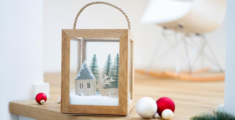 Weihnachtsdeko Laterne aus eiche Bilderrahmen