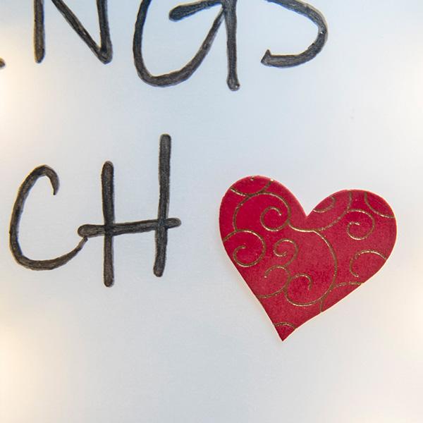 Bilderrahmen Lieblingsmensch Sticker Herz