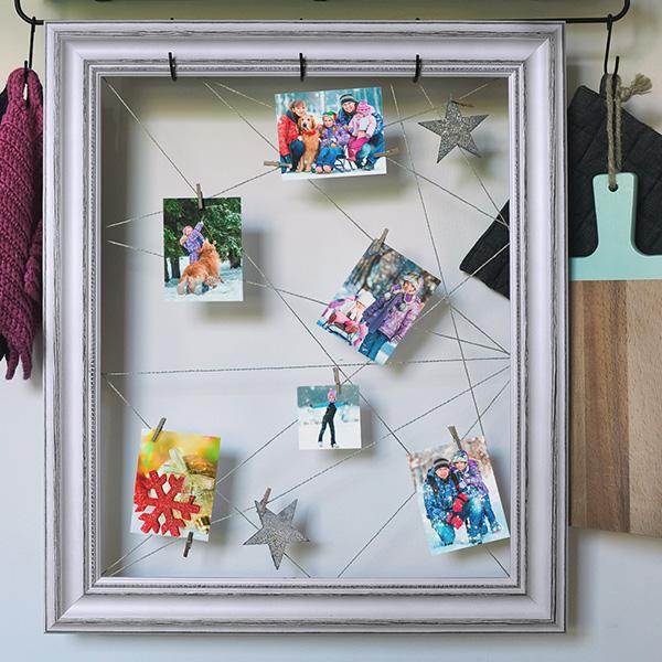 Fotogeschenk Weihnachten an der Wand
