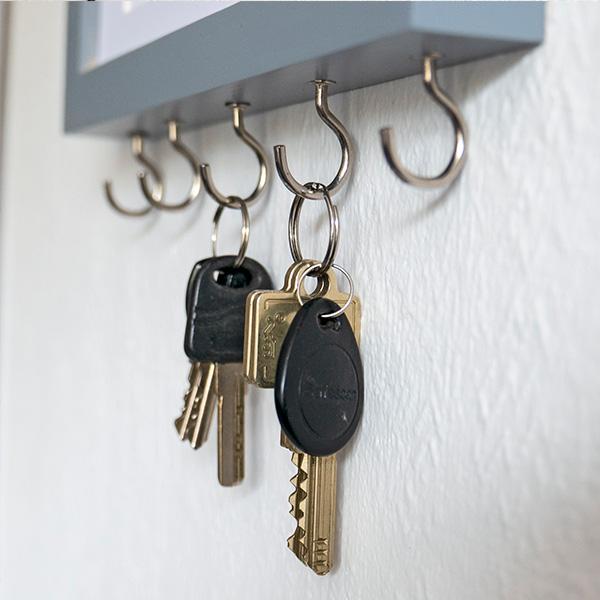 Schlüsselbrett DIY mit Schlüsseln