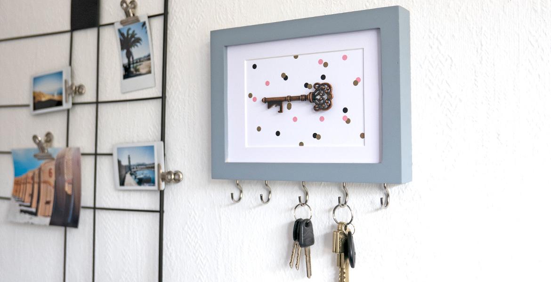 Schlüsselbrett DIY an der Wand