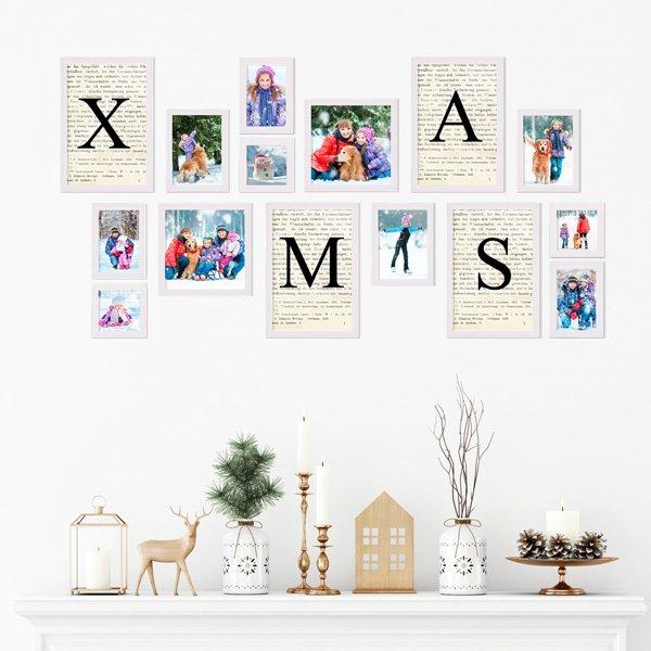 Weihnachtsdeko basteln Bilderrahmen-Set zu Weihnachten