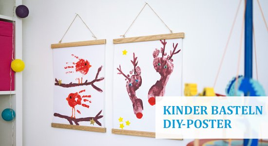 Basteln mit Kindern im Winter: DIY-Poster