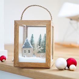 Laterne Basteln zu Weihnachten mit Bilderrahmen