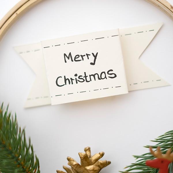Weihnachtsdeko Weihnachtskranz Merry Christmas Schrift