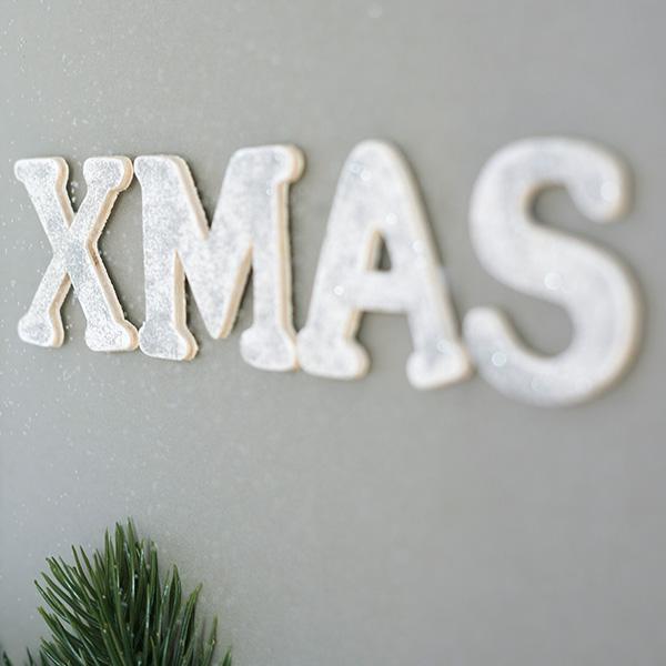 Weihnachtsdeko Rahmen zum Befüllen Schriftzug