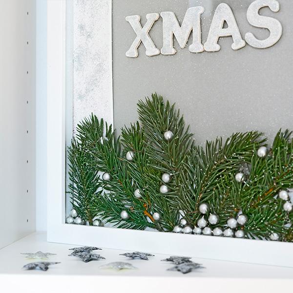 Weihnachtsdeko Rahmen zum Befüllen Tannenzweige