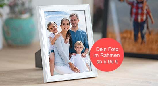 Foto mit Bilderrahmen Familienfoto