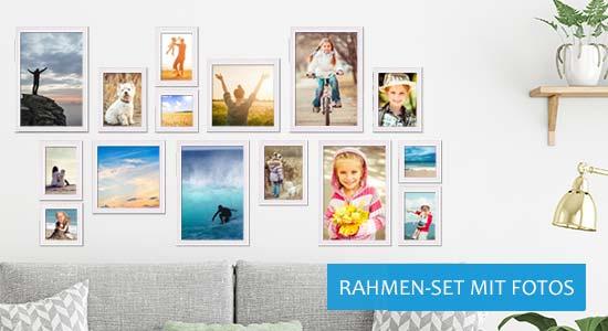Bilderrahmen-Set mit Fotos