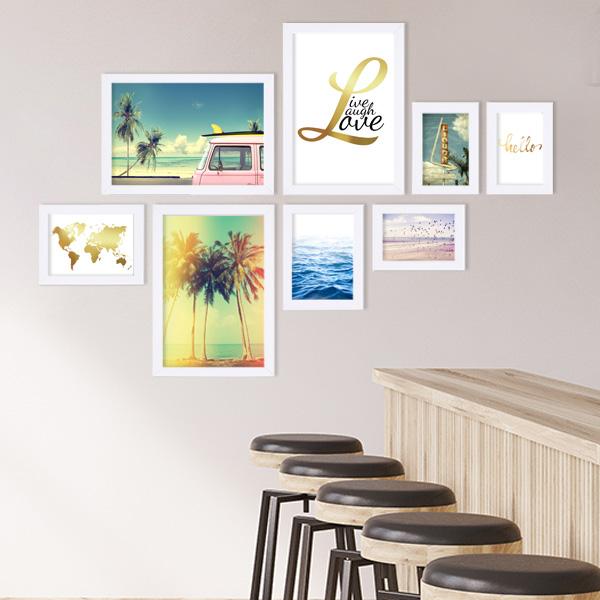 Bilderrahmen für Firmen Beispiel Poster-Set