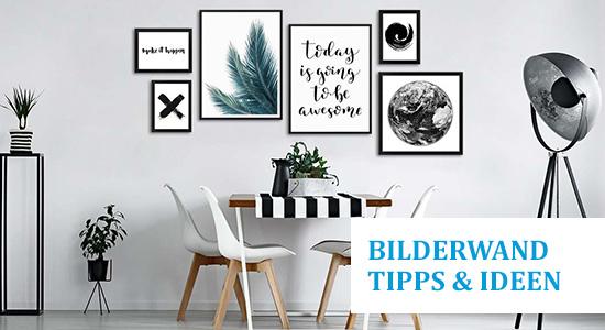 Sechs goldene Regel für Bilderwand