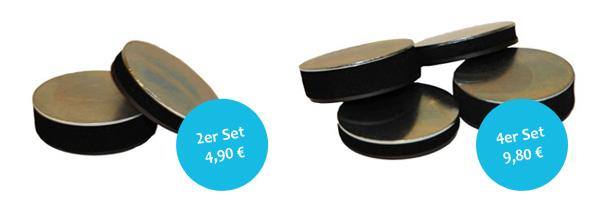 3D Fotocollage 2er und 4er Magnet-Set