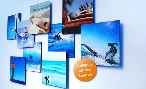 3D Fotocollage zum Thema Surfen