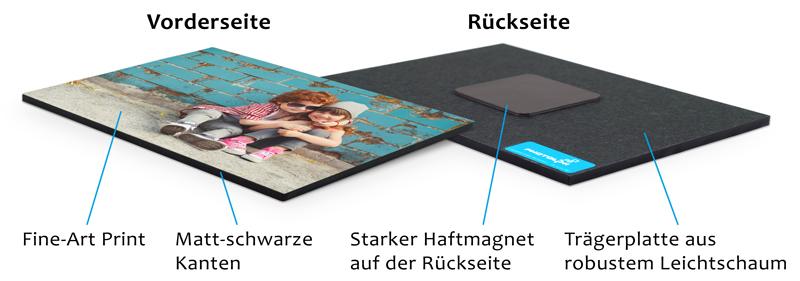 Magnet-Fotowand Detailsansicht