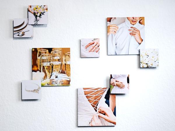 3D Fotocollage zum Thema Hochzeit