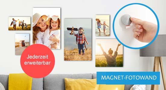 Magnet-Fotowand Beispiel 6er Set