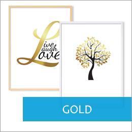 Poster für Bilderrahmen goldene Motive