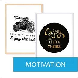 Poster für Bilderrahmen motivierende Motive