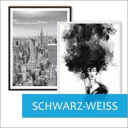 Poster für Bilderrahmen schwarz-weiß Motive