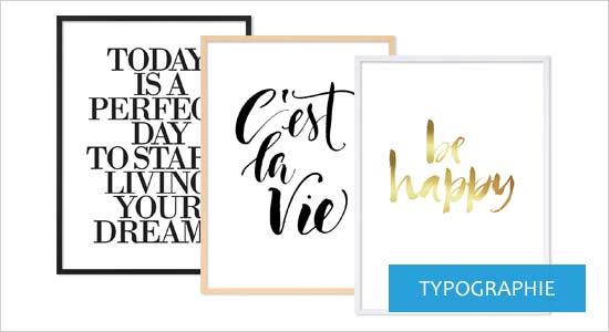Poster für Bilderrahmen Typographie