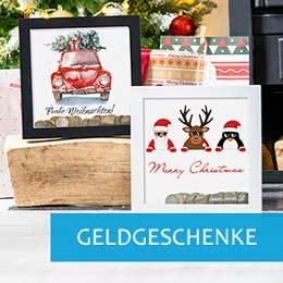 Weihnachtsgeschenk-Ideen Bilderrahmen-Spardose in weiss
