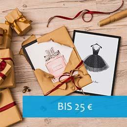 Weihnachtsgeschenk-Ideen Bilderrahmen schwarz in Geschenkpapier