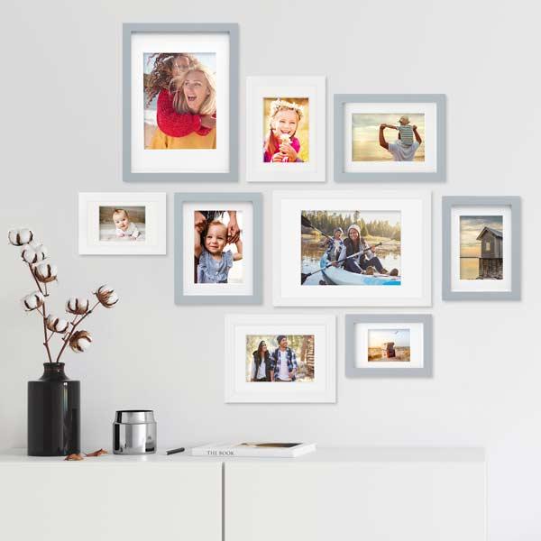 Pressemitteilung Bilderrahmen-Set Farbmix Grau Weiß
