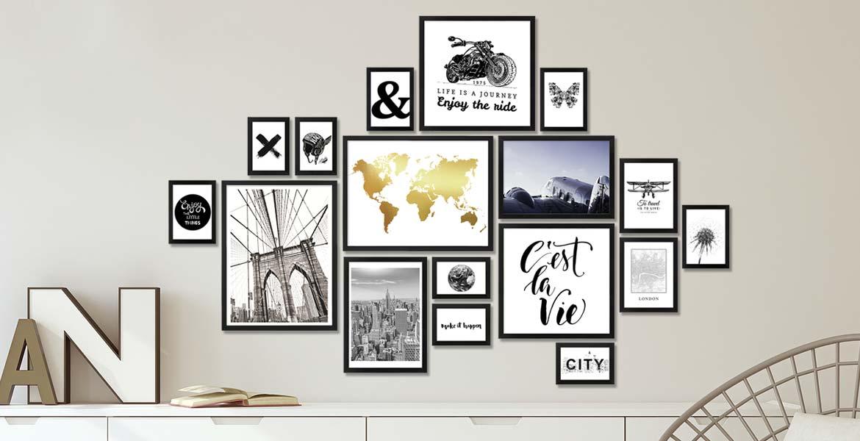 Pressemitteilung Wandgestaltung Tipp 17er Bilderrahmen-Set