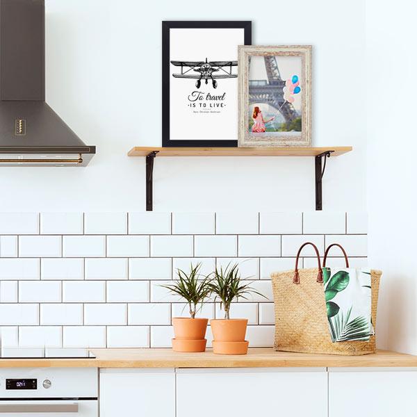 Pressemitteilung Wandgestaltung Bilderrahmen Küche