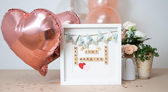Pressemitteilung Originelle Geschenke zur Hochzeit mit Bilderrahmen