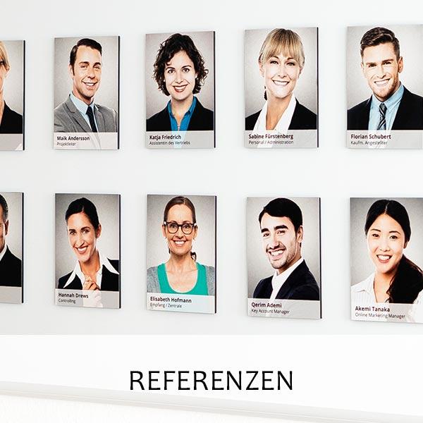 Team-Fotowand Referenzen