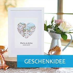 Hochzeitsgeschenk Ideen weißer Bilderrahmen