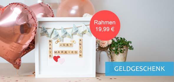 Hochzeitsgeschenk Ideen Geld im Objektrahmen